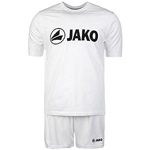 JAKO JAKO Trainings-Set kurz | 2er-Set mit Shirt und Shorts | Performance Sport-Bekleidung aus Funktionsmaterial | 5 wählbare Farben für Herren und Damen | Fußball-Trikot, Trainings-Hose