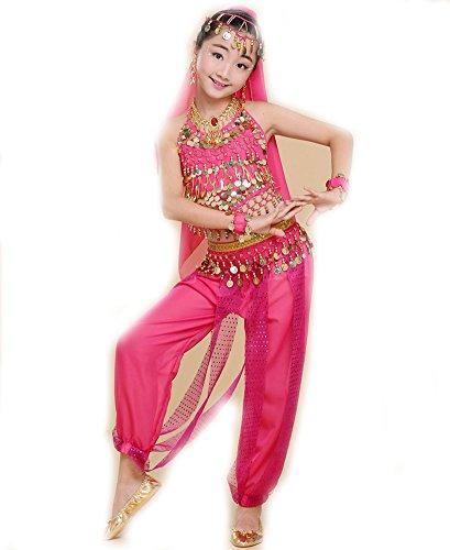EULAGPRE 1set Mädchen Bauchtanz Kostüm Kind Kinder Bellydancer Indische Kleidung Kleider
