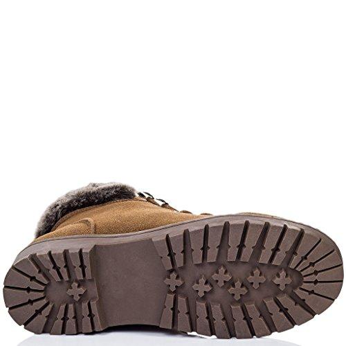 Tan Baixos Spylovebuy Botas Até Sintética Keavney Sapatos Camurça Rendas Senhoras nSvqp7P7