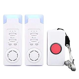 FUNRUI Haus Wireless Mobiler Alarm Notruf Knopf Pflegeruf-Set Hausnotruf Panikalarm Funkalarm für Pflegebedürftige Geduldig Älterer Mann (1 in 2)
