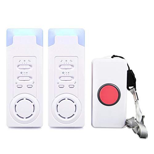Sistema de alerta de seguridad para el hogar FUNRUI, inalámbrico, con botón de llamada de emergencia, monitor de llamadas