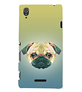 Dog 3D Doggy Puppy 3D Hard Polycarbonate Designer Back Case Cover for Sony Xperia T3