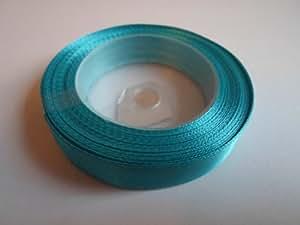 """1 rouleau 12mm 1/2"""" ruban satin x 13 mètres, bleu turquoise, mariage favorise décoratifs Pâques Noël 12 mm"""