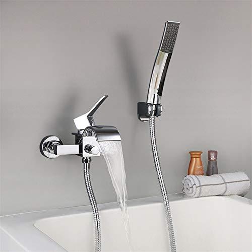JIANGYE Wasserfall Bathroom Single Handle Shower Faucet Trim Valve Body Hand Shower Complete Kit Modern Wall montiert - Delta-shower Body