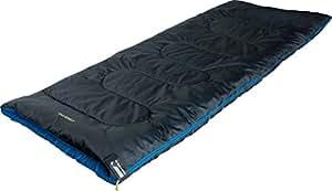 High Peak Ceduna Sacco a Pelo, Unisex – Adulto, Antracite/Blu, 200 x 80 cm