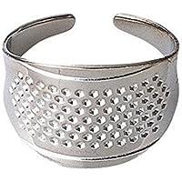2pcs Anillo de plata Protector de dedos de dedal de coser domésticas DIY herramientas Quilting Craft