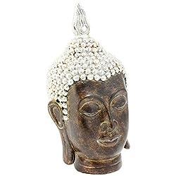 Lesser & Pavey–Exotic arte adorno de cabeza de Buda, dorado, Small