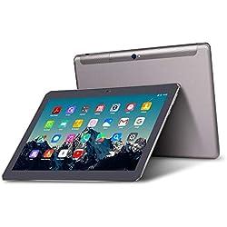 Tablette Tactile 10 Pouces - TOSCIDO K108 Android 7.0, Quad Core,3G Doule SIM,32 Go,2 Go de RAM,WiFi/Bluetooth/GPS/OTG,Double Haut-Parleur Stéréo,y Compris Français Instructions - Gris