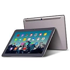 Idea Regalo - Tablet 10 Pollici - TOSCIDO Android 9.0 Certificato da Google GMS,Quad core,4G LTE Dual Sim Carta,64 GB Memoria,RAM 4 GB,WiFi/Bluetooth/ GPS/OTG,Suono Stereo con Doppio Altoparlante - Grigio