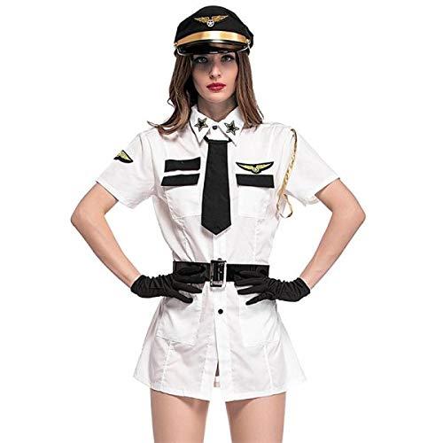 (Female Flight Captain Fancy Dress Costume - One Size)