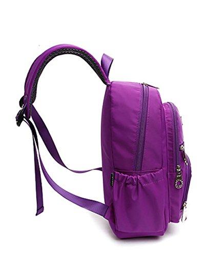 Keshi Nylon Niedlich Damen accessories hohe Qualität Einfache Tasche Schultertasche Freizeitrucksack Tasche Rucksäcke Lila 1