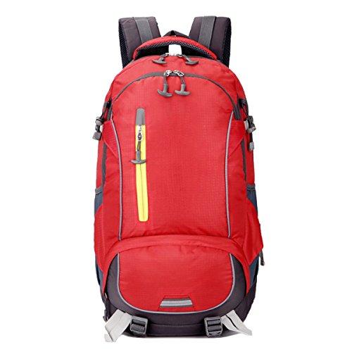 Xin Su Ultra-durevole Leggero Zaino Da Viaggio Escursioni Borse Giornaliere Ultra Leggero Viaggi All'aperto Campeggio Zaino Da Equitazione. Multicolore Red