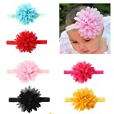 Babymoon (Set of 6) Headbands Flowers Soft Hairbands for Baby Girls Infants Toddlers