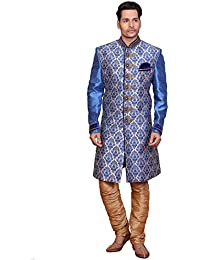 A.B.C. GarmentsBlue Silk sherwani For Mens