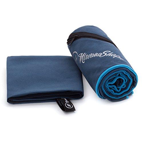 2er-Set Premium Mikrofaser Handtücher | 70x140 + 40x60 cm | saugfähig, leicht und schnelltrocknend | Sport- und Badehandtücher mit Ecktasche | Ideal für Fitness, Yoga, Sauna, Outdoor, Reise