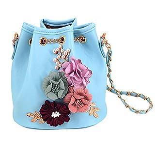 AiSi Women's bb-01120W05 Cross-Body Bag Multicolour flowers blue