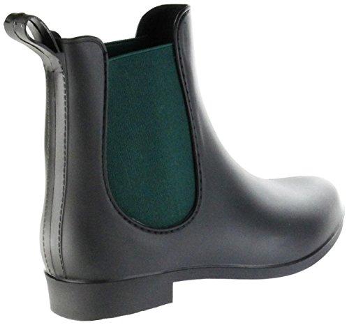 Senhoras Tornozelo Borracha Chuva De Simone Tornozelo Inicialização Bota No Botas Negra Sapatos De Conway H8w4xzq