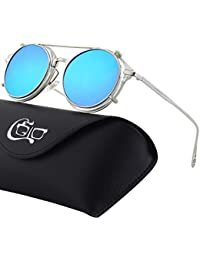 11992ce7da459 CGID Gafas de Sol Polarizadas Sin Patillas (clip-on) Steampunk Metal Retro  Lente