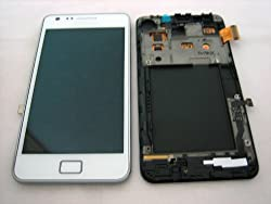 Samsung Galaxy S2 Gt-i9100 ~ White Full Front Lcd Display + Touch Screen + Frame Cover ~ Mobile Phone Repair Part Replacement