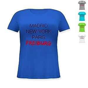 Städte - Weltstadt Freiburg - Lockeres Damen-Shirt in großen Größen mit Rundhalsausschnitt