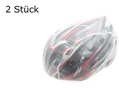 2 Stück Helmüberzug in WEISS für Fahrradhelm - Schutz vor Regen, Wind, Sonne   reflektierendes Logo für Sicherheit   wasserdichter Regenüberzug   Helmschutz...