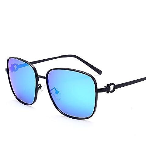 LXKMTYJ Sunglasses Men Chaoren Polarized Sunglasses Driving Mirror Driver Mirror Gradient Stylish Glasses, Ice Blue Chip