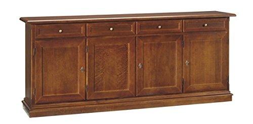 Estea mobili - mobile credenza 4 ante legno col noce scuro arte povera - 110929090407 - come foto