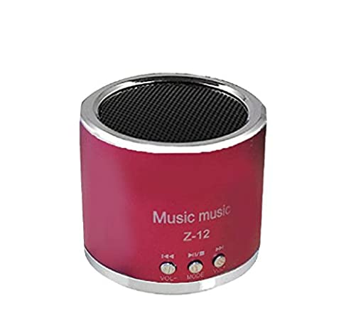 Lautsprecher, Rcool Kabellose tragbare Mini-Lautsprecher FM Radio USB Micro SD TF Karte MP3-Player (Rot)