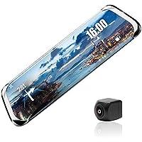 Full HD1080P Dual Cams 10in Pantalla táctil Visión Nocturna Coche Espejo retrovisor DVR Cámara Grabadora de Video (1)