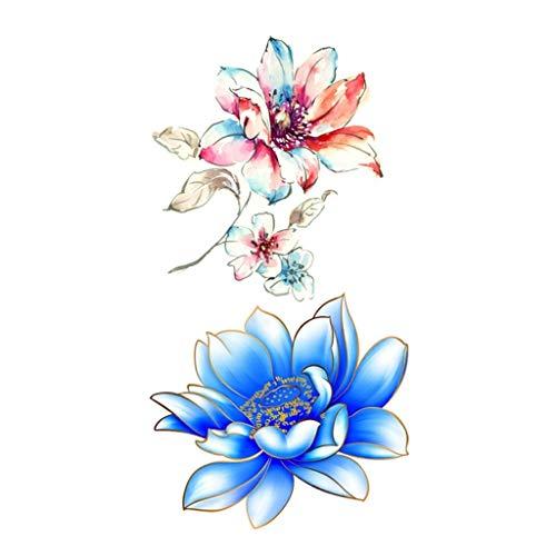 kashyk Flower Tattoo Sticker 1pcs |, wasserdicht | ungiftig | temporär abnehmbar | Tattoo Sticker, Farbe Flower Tattoo Sticker