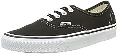 Vans Authentic, Unisex-Adults' Low-Top Trainers, Black/White, 4 UK