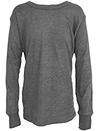 Floso - Camiseta básica/Interior térmica de Manga Larga para Niños/Niñas Unisex