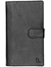 Kara Black Color Genuine Leather Passport Holder