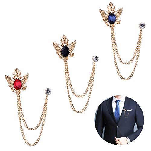 Huture 3pcs spilla da uomo spille a spillo clip per camicetta con clip in metallo clip per accessori sciarpa fermagli vintage in cristallo con aghi corpetto distintivo per gioielli moda donna