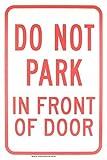 bienternary Nicht Park in Front of Tür 18x 12Aluminium Schild