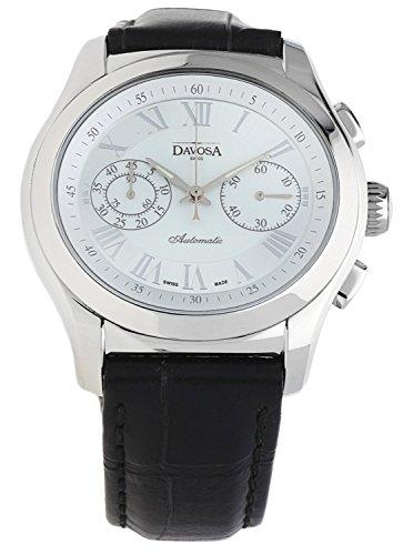 Davosa Swiss Orologio da polso da donna Oval Cronografo Edition Nero 161.430.12–57361