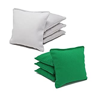 ACA Regulation Cornhole Bags (Set of 8) (White and Kelly Green)