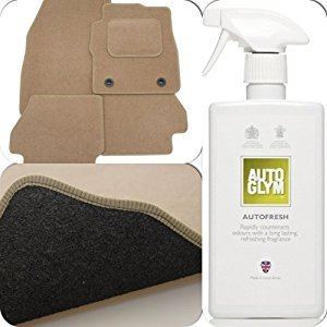 perfect-fit-beige-carpet-car-floor-mats-with-heel-pad-autoglym-autofresh-to-fit-ford-lincoln-town-ca