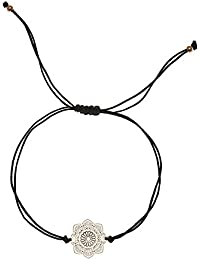 6b5f95b9d436 Tara Pulsera Mandala Acero Inoxidable Amuleto de la Suerte Amistad Banda  Comercio Justo schmuckrausch Color Marrón