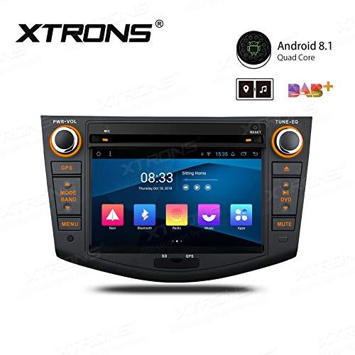 XTRONS - Reproductor de Radio y DVD para Coche Android 8.1 con Pantalla multitáctil de 7 Pulgadas, Compatible con WiFi GPS y Salida RCA Completa OBD Dab+ 2K para Toyota RAV4 2006-2012