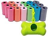 BPS (R) Bolsa Excremento Dispensador en Forma de Hueso, Bolsas Caca perro de 19 Rollos,Total 285 Bolsa (Verde) BPS-5480-2329-4 VD19R