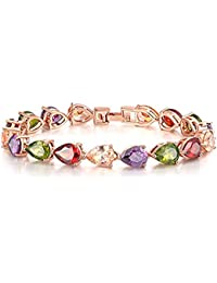 Peora Jewellery 18K Gold Plated AAA Swiss Cubic Zirconia Bracelet for Girls and Women