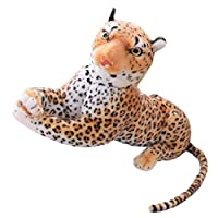DENGHENG Lifelike Money Leopard Plush Toy Panther Soft Stuffed Animal Birthday Gift