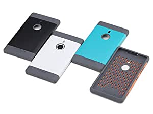 Coque Rock hybride bi-matières pour Lumia 925 Nokia Série Shield Outdoor Noir et Gris