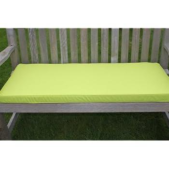 coussin pour mobilier de jardin coussin pour banc de jardin 2 places coloris citron vert. Black Bedroom Furniture Sets. Home Design Ideas