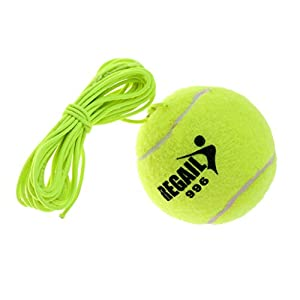 Gazechimp Elastischer Tennisball Tennis Trainingsball mit Schnur, Grün
