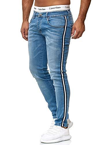 OneRedox Designer Herren Jeans Hose Regular Skinny Fit Jeanshose Basic Stretch Modell 611 612 Blue 36