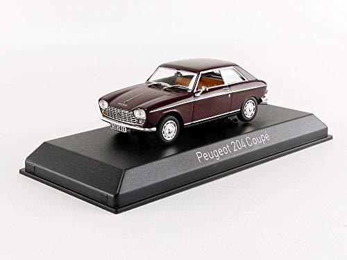 Unbekannt Peugeot 204 Coupe 1967 braun Modellauto 1:43 Norev Maroon Coupe