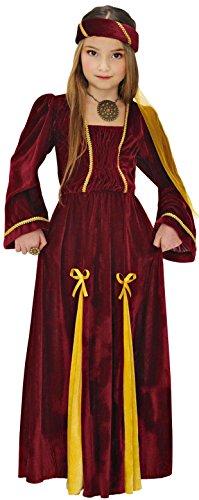 Widmann 12537 - costume da principessa medievale, in taglia 8/10 anni