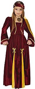 WIDMANN 12537?Disfraz de Princesa medieval para niña - Talla para 8/10años